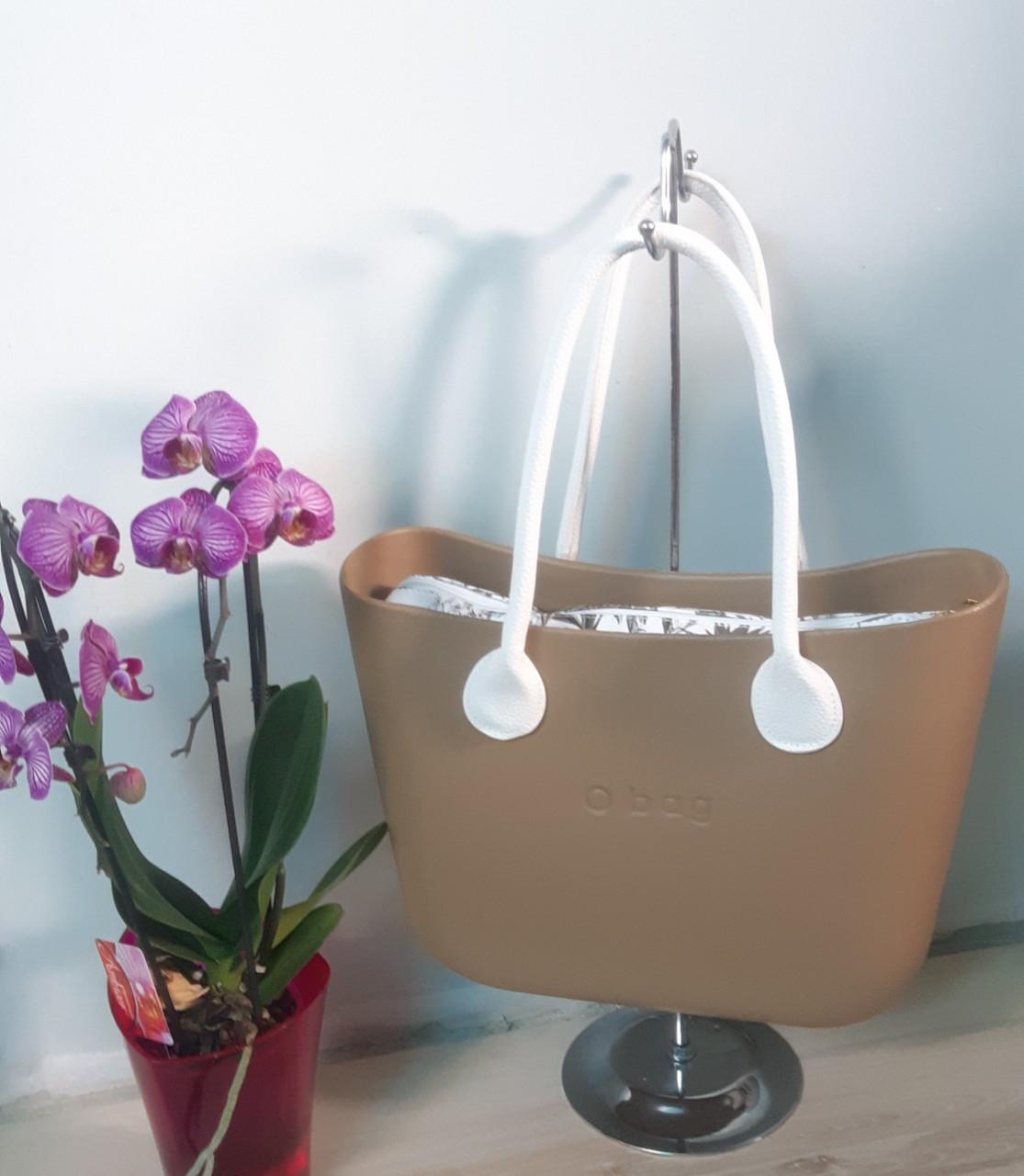 Женская сумка O bag classic в золотистом  корпусе