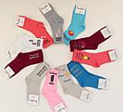 """Носки высокие молодежные с рисунком """"Happy Socks"""" размер 35-41 (501-5), фото 3"""