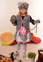 Карнавальный костюм Мышка для девочки 3-7 лет. Детский новогодний маскарадный костюм на Новый Год