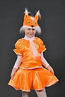 Костюм Белочка 7-10 лет. Детский новогодний карнавальный маскарадный костюм для девочки Білочка