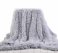 Меховой плед-покрывало Leopollo 150х200 см Серый (0701)