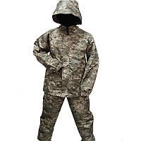 Дощовик камуфляжний з ПВХ просоченням. костюм дощовик піксель.