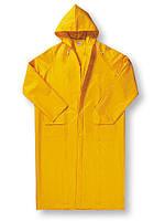Плащ влагожащитный жовтий ПВХ, плащ дощовик прогумований, розміри L, XL, XXL, XXXL.