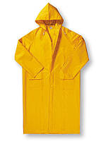 Плащ влагожащитный жёлтый ПВХ, плащ дождевик прорезиненный, размеры L, XL, XXL, XXXL.