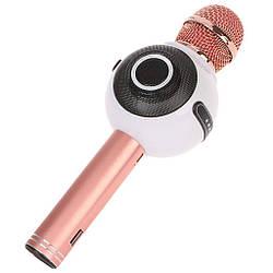 Беспроводной микрофон караоке bluetooth WSTER WS-878 белый (gr_008116)
