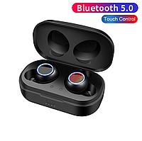 Беспроводные Bluetooth наушники сенсорные с зарядным кейсом X118-TWS Черный