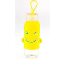 Бутылка с ушками SMILE желтая