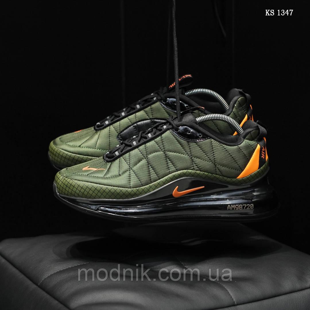 Мужские кроссовки Nike Air Max AM720-818 (зеленые) - термо