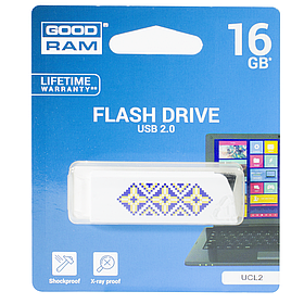 Флешка GoodRAM UCL2 16 GB Белая (1102-2145)