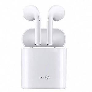 Беспроводные Bluetooth наушники, гарнитура i7-TWS с кейсом, белые