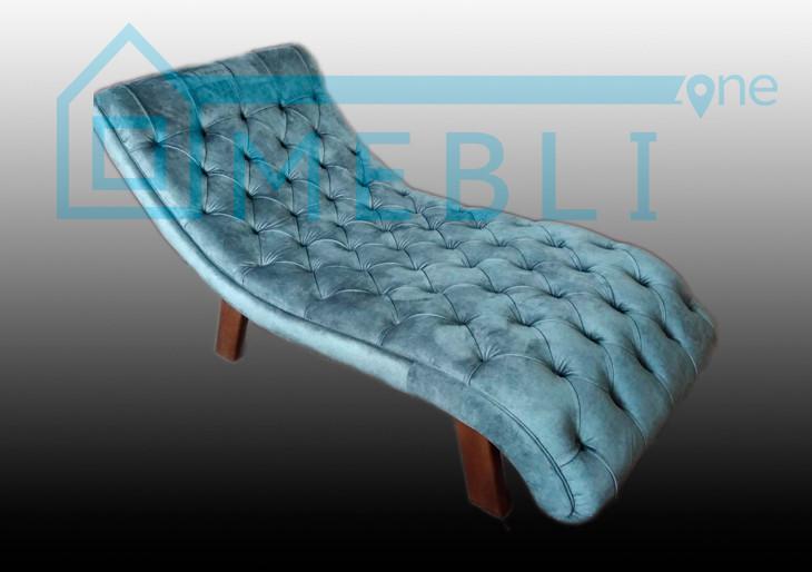 Мягкое кресло-шезлонг (каретная стяжка)