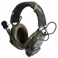 Гарнитура Z Tactical Comt I Headset Z054 Military Standard Plug Woodland