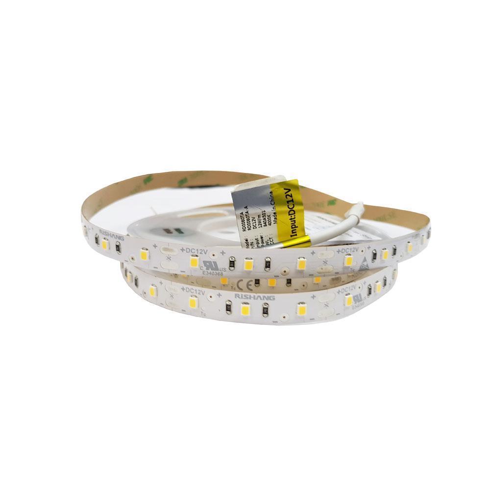 Світлодіодна стрічка 12вольт 3000K 1000лм 12Вт 2835-60-IP33-WW-10-12 RD0060TA-A  тепло біла Рішанг 12110о