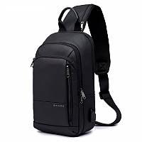 Городской однолямочный рюкзак через плечо Bange BG1911, с USB портом, влагозащищённый, 5л