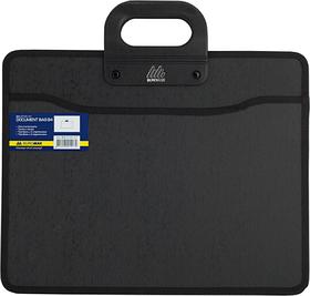 Портфель на 2 відд. B4, з ткан. боками. чорний 4202129100