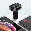 FM-трансмиттер (модулятор) в машину Baseus T-Typed MP3 Car Charger S-09A Bluetooth Черный (CCTM-01), фото 6