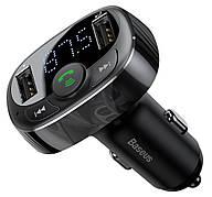 FM-трансмітер Baseus T-Typed MP3 Car Charger S-09A Чорний (CCTM-01)