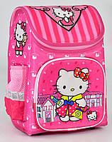 Ранец школьный каркасный ортопедический + Пенал Hello Kitty 1, 2, 3 класс. Для девочек. Рюкзак, портфель школа