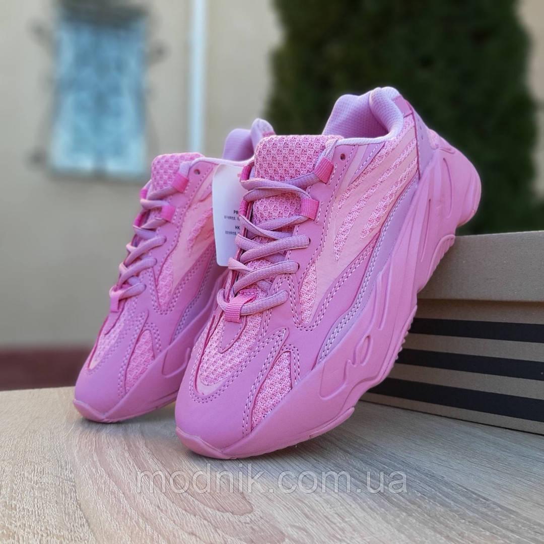 Женские кроссовки Adidas Yeezy 700 V2 (розовые)