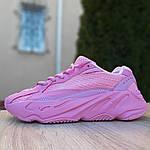 Женские кроссовки Adidas Yeezy 700 V2 (розовые), фото 2