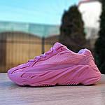 Женские кроссовки Adidas Yeezy 700 V2 (розовые), фото 3