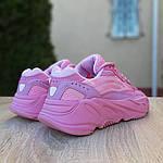 Женские кроссовки Adidas Yeezy 700 V2 (розовые), фото 5