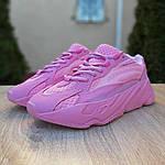 Женские кроссовки Adidas Yeezy 700 V2 (розовые), фото 6