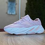 Женские кроссовки Adidas Yeezy 700 V2 (бледно-розовые), фото 2