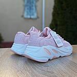 Женские кроссовки Adidas Yeezy 700 V2 (бледно-розовые), фото 4