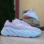 Женские кроссовки Adidas Yeezy 700 V2 (бледно-розовые), фото 7
