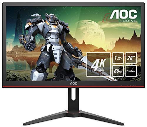 Игровой монитор AOC G2868PQU 28'' 3840x2160 Px, 2 x 3 Wt, HDMI, VGA, DisplayPort Black/Red