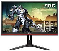 Игровой монитор AOC G2868PQU 28'' 3840x2160 Px, 2 x 3 Wt, HDMI, VGA, DisplayPort Black/Red, фото 1