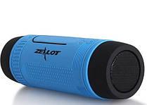 Велосипедная bluetooth колонка Zealot S1 с креплением на руль, голубая
