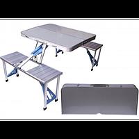 Раскладной туристический стол и стулья Folding Picnic Table 86x68 см