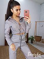 Светоотражающий женский брючный костюм с брюками карго и укороченным бомбером 6610423E