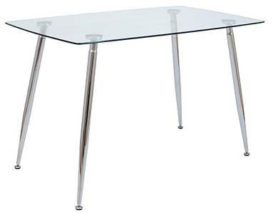 Стол стеклянный Итали хром, прозрачный