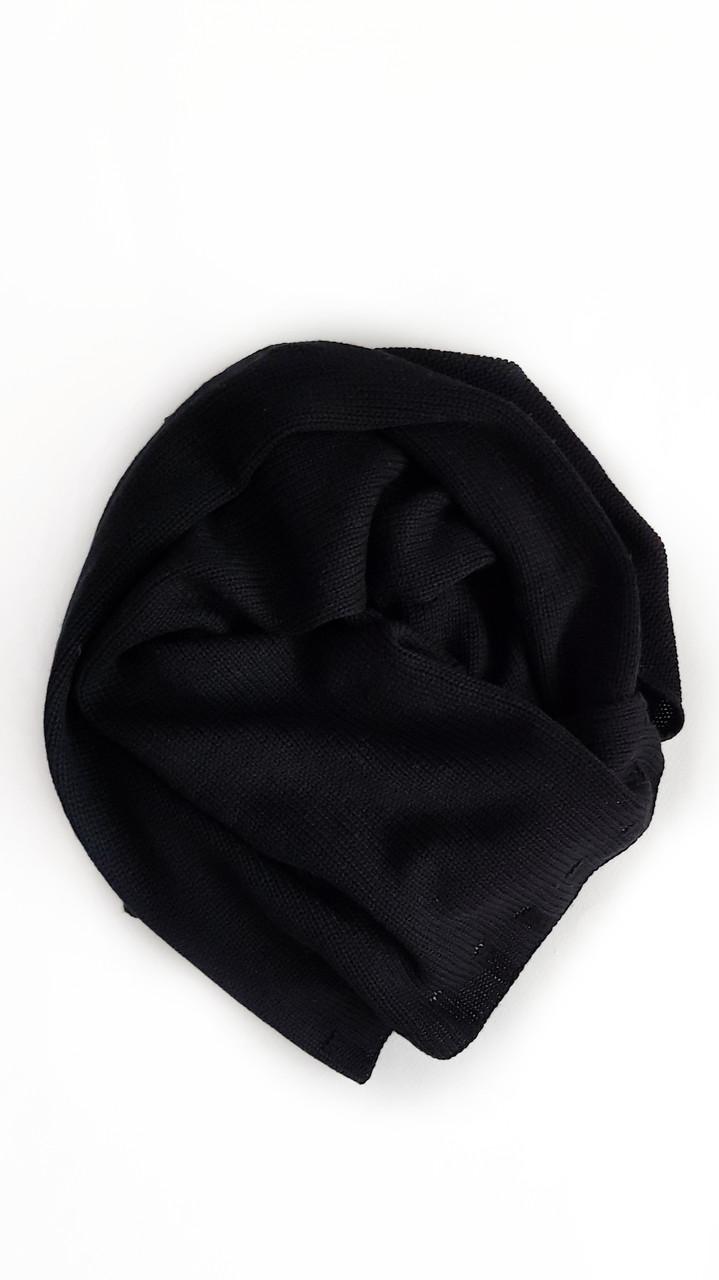 Кашемировый шарф knitted в чёрном цвете