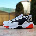 Мужские кроссовки SUPO (бело-оранжевые), фото 2
