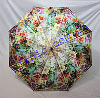 Женский зонт трость полуавтомат. Зонт от дождя!