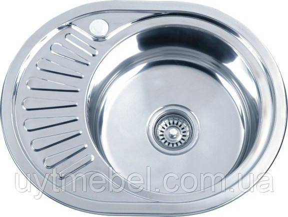 Мийка 5745 0,6 врізна декор (Platinum)
