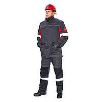 Костюм рабочий куртка и брюки со светоотражающими полосами (Метинвест)