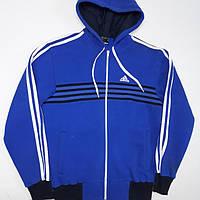 Мужская Спортивная кофта Adidas с лампасами,тёплая р.46-48