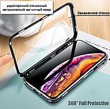 Магнітний метал чохол FULL GLASS 360° для Xiaomi Redmi Note 8T /, фото 5