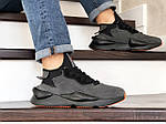 Мужские кроссовки Adidas Y-3 Kaiwa (серые), фото 2