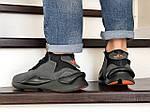 Мужские кроссовки Adidas Y-3 Kaiwa (серые), фото 4