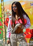 Костюм женский спортивный с капюшоном костюмка Беж