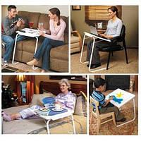 Стол придиванный складной переносной столик для ноутбука, прикроватный столик