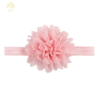 Дитяча світло-рожева пов'язка з квіткою - коло 40-50см, розмір квітки 10см