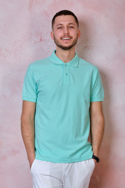 Мужская футболка-поло JHK POLO REGULAR MAN цвет светло-зеленый (MG)
