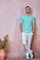 Мужская футболка-поло JHK POLO REGULAR MAN цвет светло-зеленый (MG), фото 3